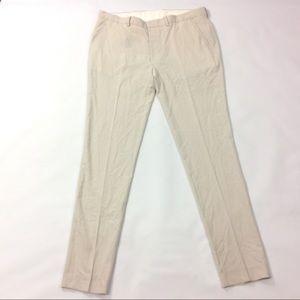 "New Asos Dress Pants Cream 34L Waist 36"""